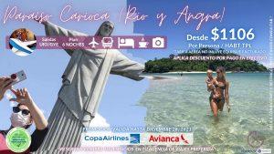 PARAISO CARIOCA – Rio de Janeiro y Angra do Reis 7D/6N