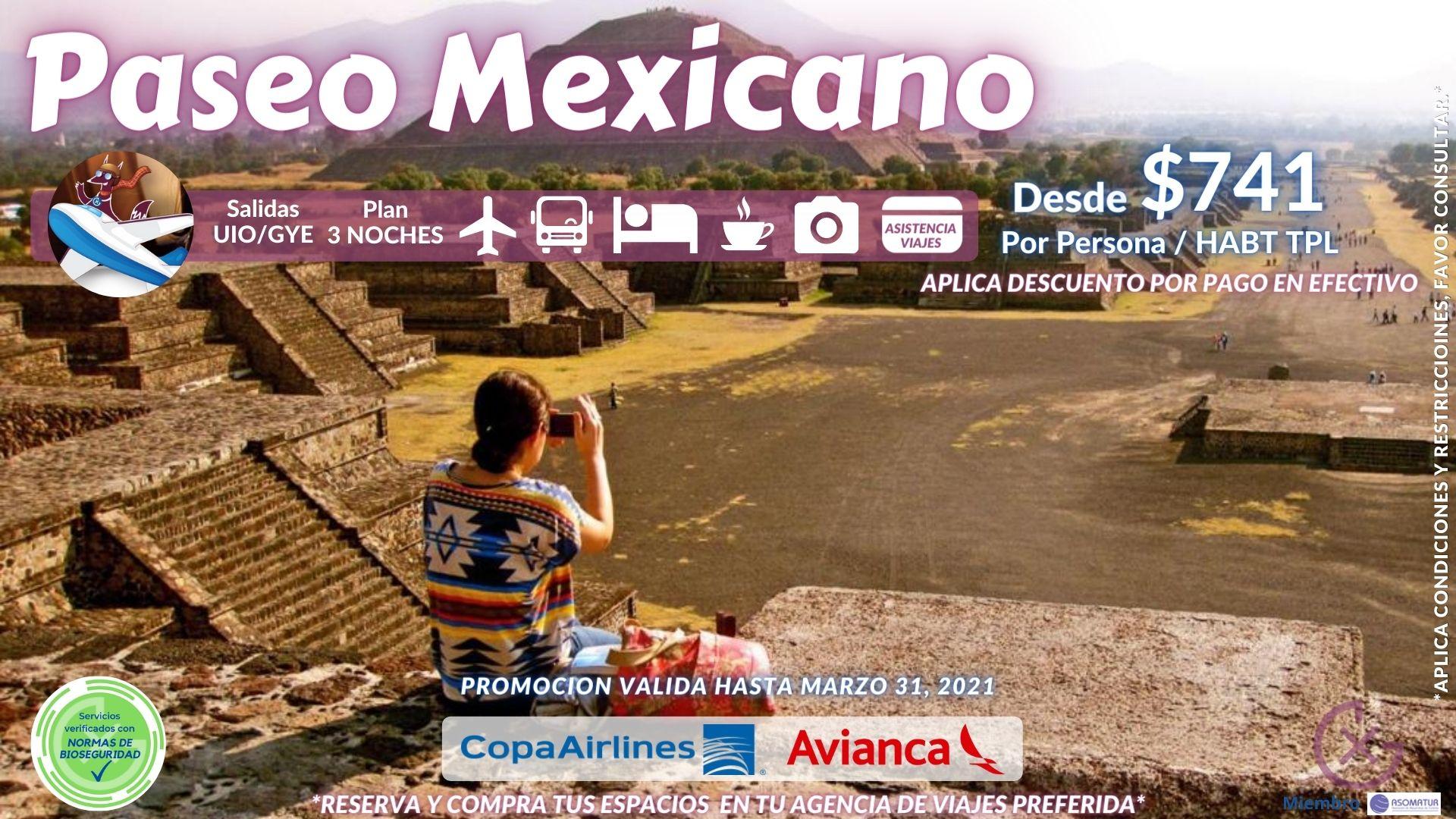 PASEO MEXICANO 4D/3N – Ciudad de México